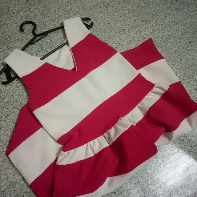 Pink Stripe Dress (M-L)