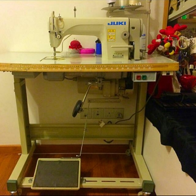 PRELOVED] JUKI DDL40 Sewing Machine Table Furniture Others On Mesmerizing Juki Sewing Machine Table