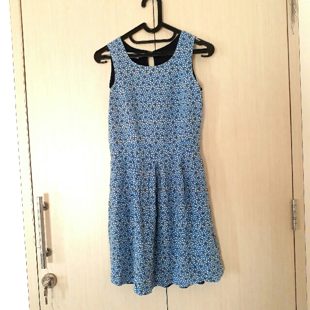 Pull & Bear Dress Blue Bird