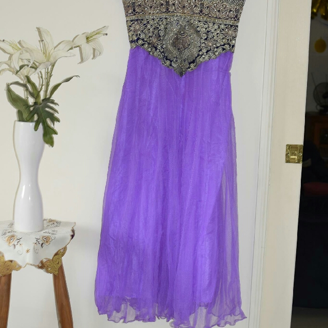 Purple salwar