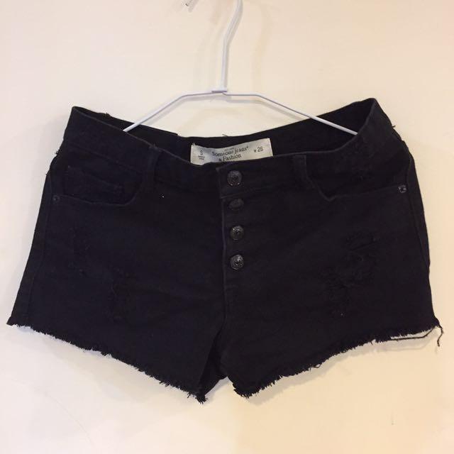 Queenshop黑色短褲