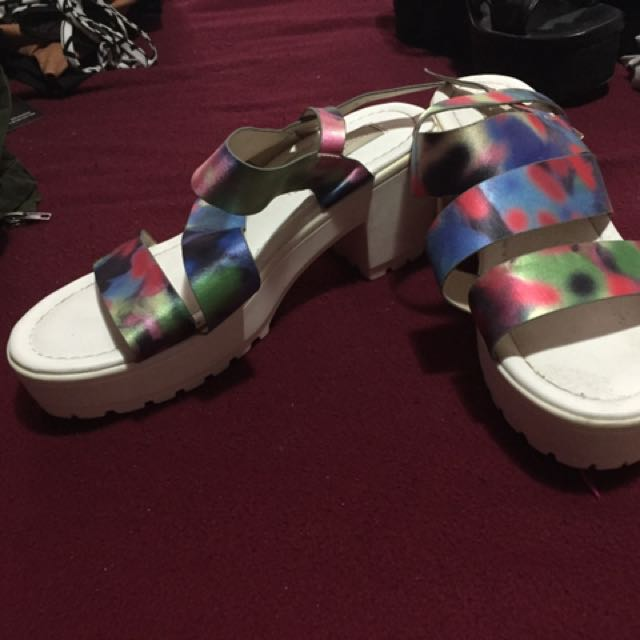 Rainbow platform shoes size 8 worn once