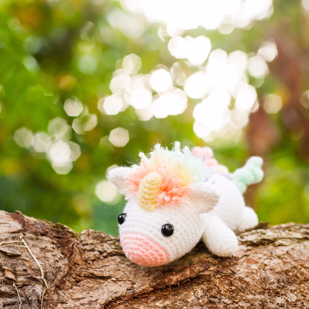 Ravelry: Nuru the Unicorn Amigurumi pattern by Carolina Guzman | 1080x1080