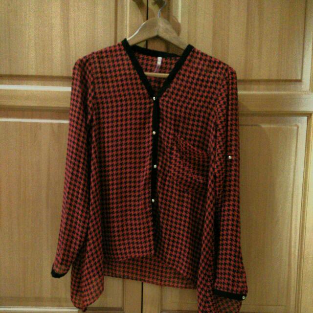 red black shirt