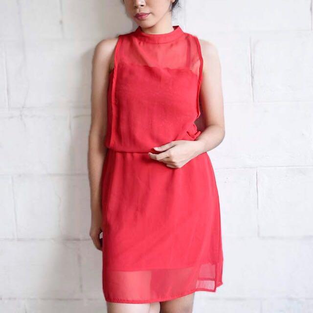 Red Jellybean Dress
