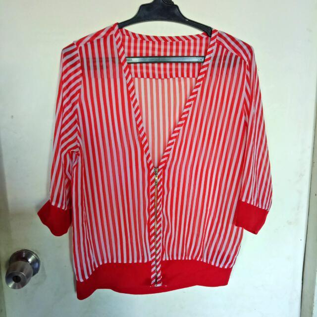 Red Stripe S-Semi Large