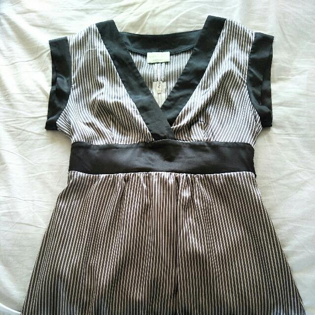 Review stripe size 12 dress