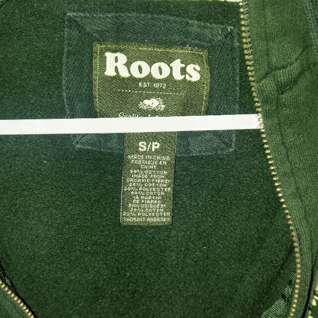 Roots Women Zip-up Sweater - Forest Green