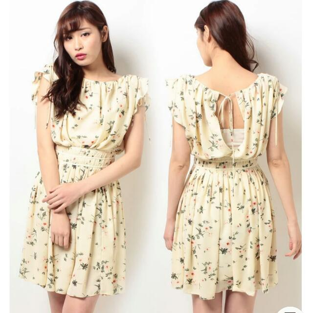 全新日貨日本專櫃品牌snidel設計感雪紡洋裝 Jill Stuart/lily Brown/正韓可參考