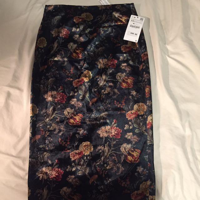 Soft Zara Suede Long Skirt