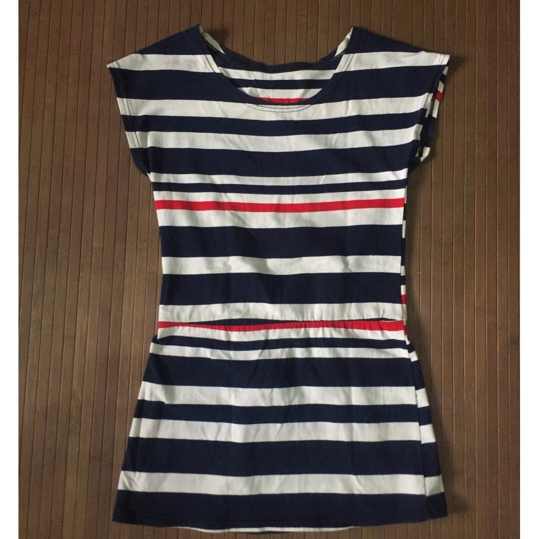 Stripped Short Dress