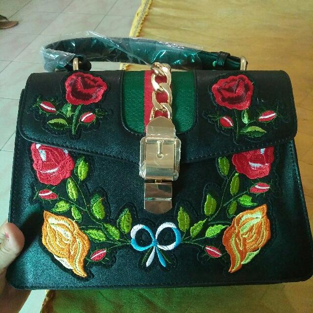 Tas Gucci Flower Import