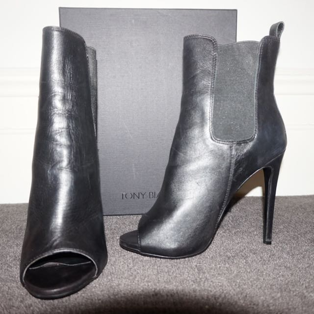 Tony Bianco Peep Toe Ankle Boot - Size 7.5