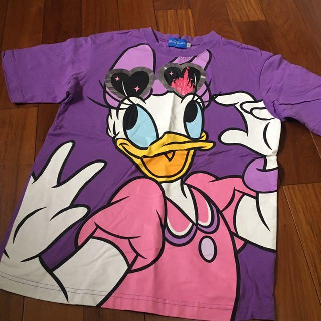 東京迪士尼限定樂園黛西Tshirt 紫色