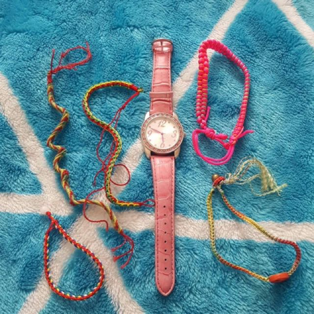 watch and bracelets and anklets