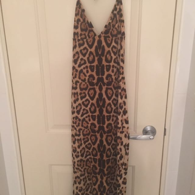 Wheels and Dollbaby leopard print dress size 12