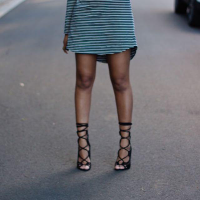 Windsor Smith Gillie Black Suede Heels