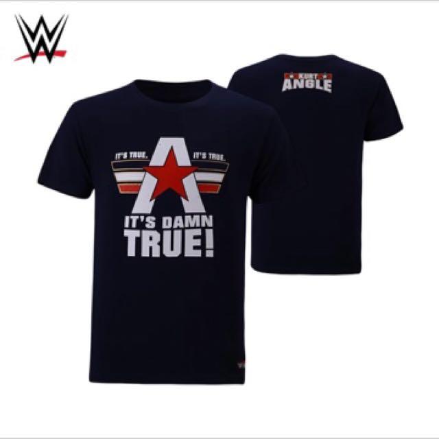 149b641bc WWE Kurt Angle Tshirt, Men's Fashion, Clothes on Carousell