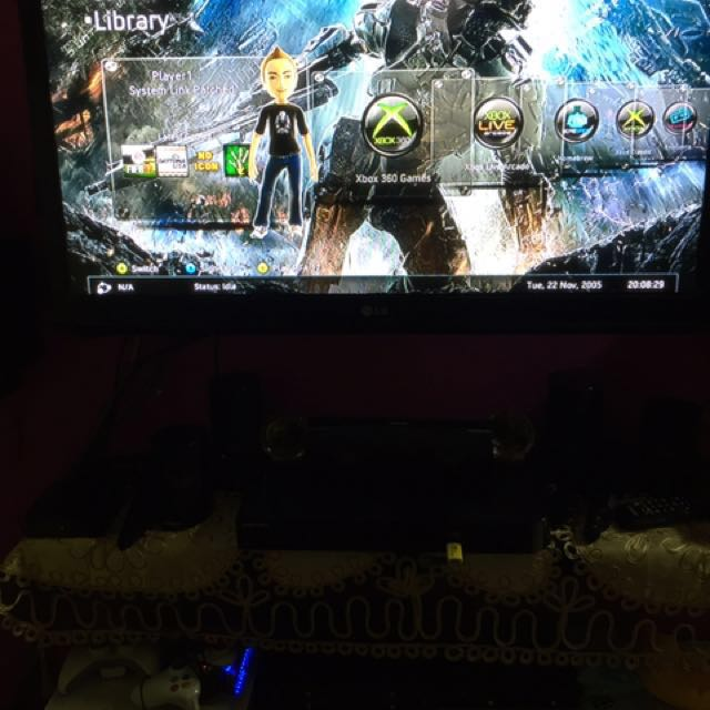 Xbox 360 fat version mod with alot preinstall game on Carousell