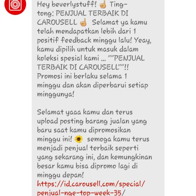 Thanks Carousell part 2