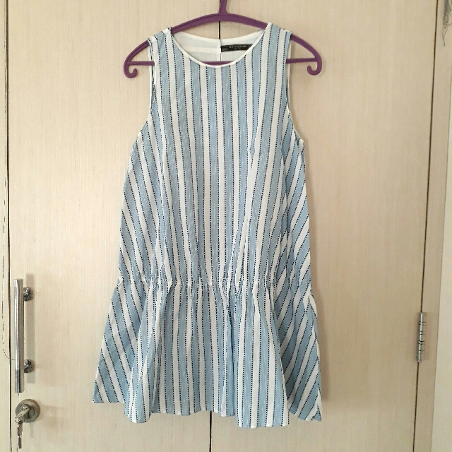 ZARA blue stripe dress