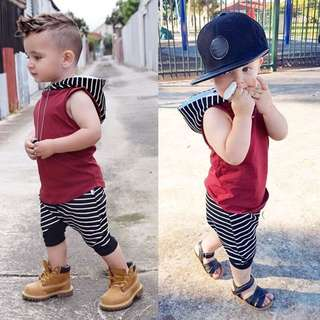2 pcs cute toddler kids baby hooded vest