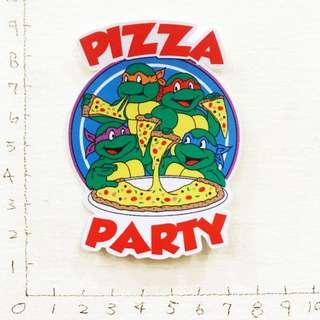 🚚 咔哇棒尬 忍者龜 Pizza 防水貼紙 買五送一