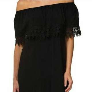 BNWT Cotton On Off Shoulder Black Dress