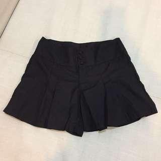 韓版 西裝打褶褲裙