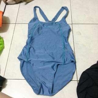 Blue One Piece Swimsuit