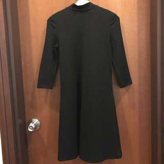 MONKI Classic Black Turtle Neck Dress