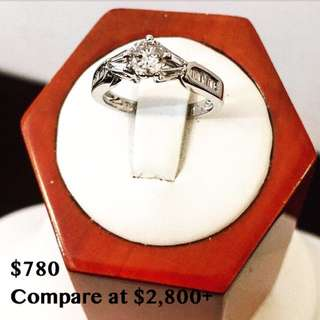 14k gold diamond engagement ring*Compare at $2,800