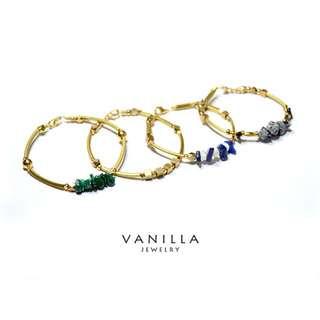 Vanilla Jewelry獨家設計款-「理想國四部曲 禮物套組」純手工天然石黃銅手鍊-可客製*限時優惠中