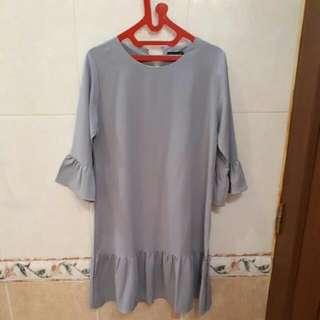 Ruffle Dress Grey