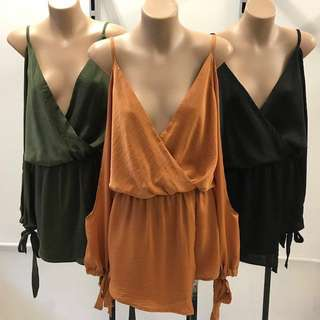 Goddess Playsuit Khaki Rust 6 8 10 12