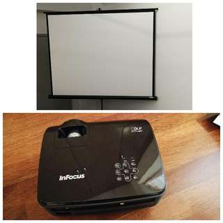 Infocus Projector & Portable Screen