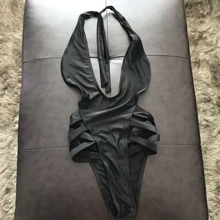 Black bikini one piece never worn