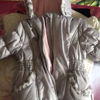 0-6 months girls winter coat