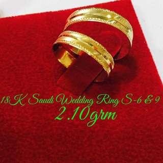 18K Saudi Gold wedding/couple rings