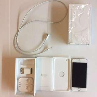 I phone6-16GB女用機況良好、未損傷、傳輸線新的未折損、玻璃保護貼新的未磨損