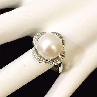 14k gold sapphire diamond ring*Custom Crafted