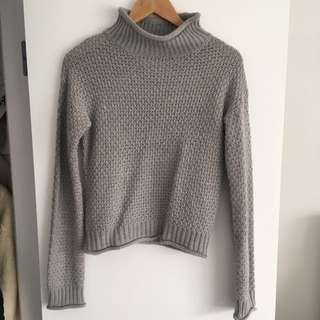 Missguided Grey Knit Cropped Jumper