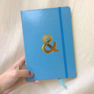 & blue notebook