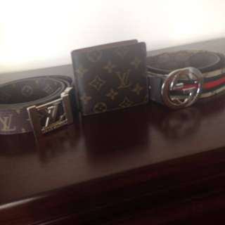 Louis Belt/wallet & Gucci Belt