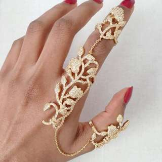 Full Finger Crystal Ring