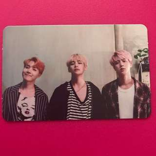 BTS MEMORIES OF 2016 DVD Photocard - J-Hope, V, Jin