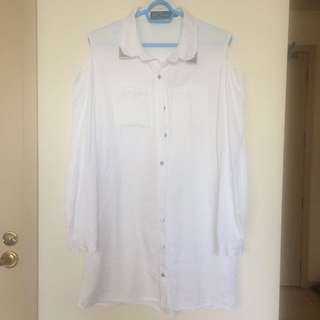 Off shoulder white shirt