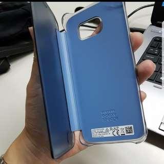 Samsung s7 edge 原廠掀蓋clear view手機殼_深藍色
