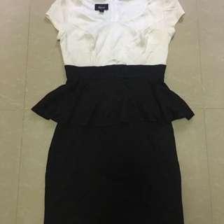 Peplum Black And White