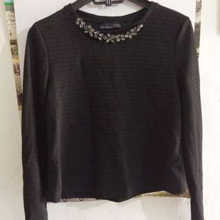 Zara blouse shirt black